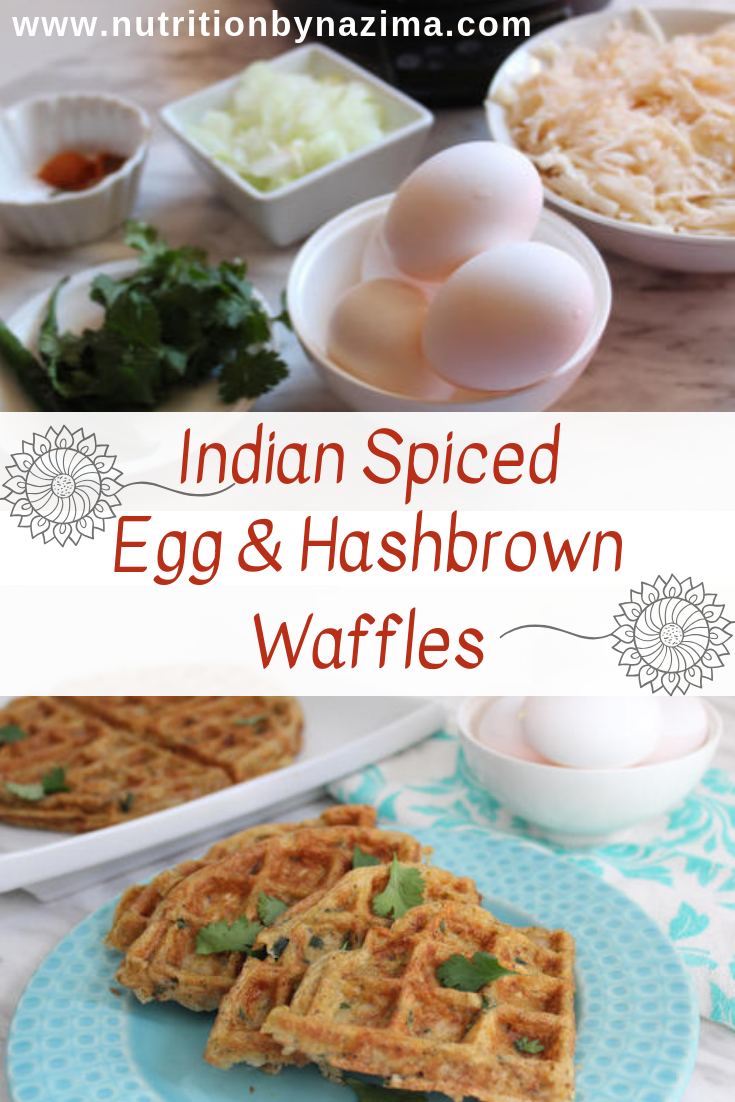 Indian Spiced Egg and Hashbrown Waffles