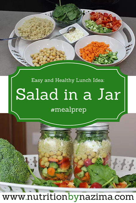 Easy and Healthy Lunch Idea: Salad in a Jar
