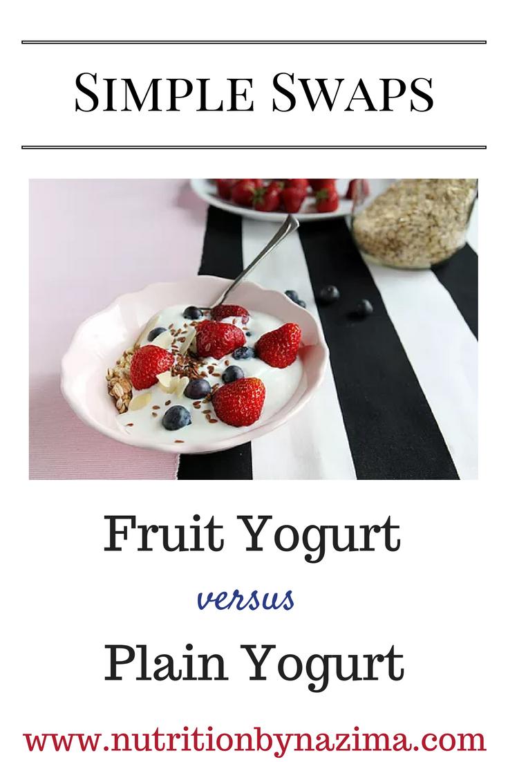 Simple Swaps: Yogurt
