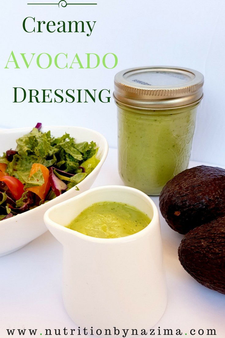 The Secret to Loving Your Salad? This Creamy Avocado Dressing!