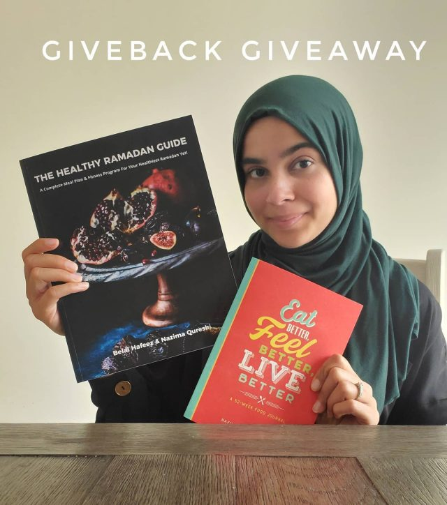 "**GIVEBACK GIVEAWAY**  This is a different type of giveaway - it's all about giving back. My @sisterhoodsoftball team is collecting money to provide hot meals to the less fortunate and I need your help!  I'm asking you to give back while also getting a chance to win one of my books!  If you'd like the chance to win a copy of The Healthy Ramadan Guide OR Eat Better, Feel Better, Live Better here's what you need to do:  1. Donate at least $5 to the ASK Foundation at the link in bio (under Sisterhood Softball).  2. Select ""Team GG"" under additional info. 3. Comment below or DM me once you've donated!   This giveback giveaway closes this Friday at 11PM EST. This contest is not associated with Instagram in anyway.  All donations will receive a tax receipt. Two winners will be chosen (one winner per book). North America only!"