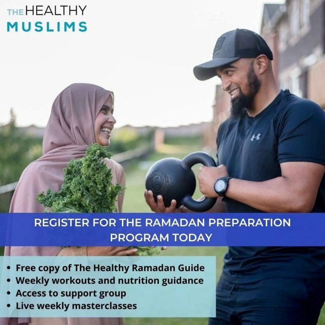 The Ramadan Preparation Program is here!  Super excited to start preparing for Ramadan which is just around the corner.  So here's how we can help:  - Have your most energized Ramadan yet.  - To help you lose finally lose weight in Ramadan.  - Get rid of aches and pains to allow you to stand in prayer longer.   - To provide you with tips to make sure your suhoor keeps you full and your Iftar keeps you light.   - How and when to workout during Ramadan  - Access to a private Facebook group to help keep you motivated and consistent.  And best of all you get a free copy of The Healthy Ramadan Guide! The only one of its kind and in print.  You will receive this comprehensive program the month before Ramadan + plus the book (The Healthy Ramadan Guide) for only $197 USD.  Click the link in bio to get your spot!  #thehealthymuslims #ramadan #ramadanprep #ramadanready #ramadanguide #muslimgram #muslimgoals #muslimhabits #muslims #muslimfit #fitmuslim #muslim #ramadanprep #healthyramadan #healthyRamadanguide #muslimtrendy #muslimworld #halalthings #ramadan2021