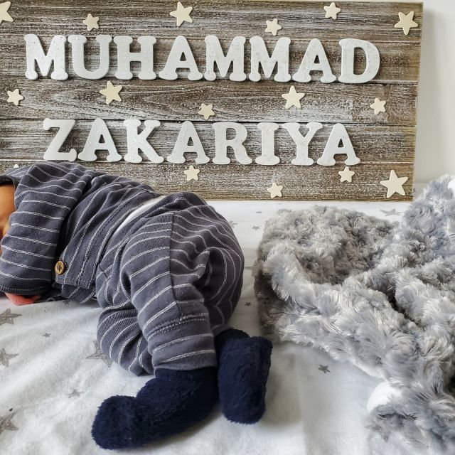 Welcoming our littlest addition to our family, Muhammad Zakariya 💙. He couldn't wait to meet his sisters and joined us earlier than expected mashaAllah! Alhumdulilah, so grateful for this blessing.   Boy moms - send me all your tips, this is new territory for me 🤣!   #mashaAllah #babyboy #momof3 #muslimmom #alhumdulillah #motherhood #boymom